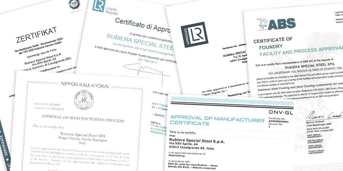 Certificazioni qualità